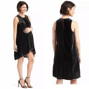 GAP maternity black velvet dress